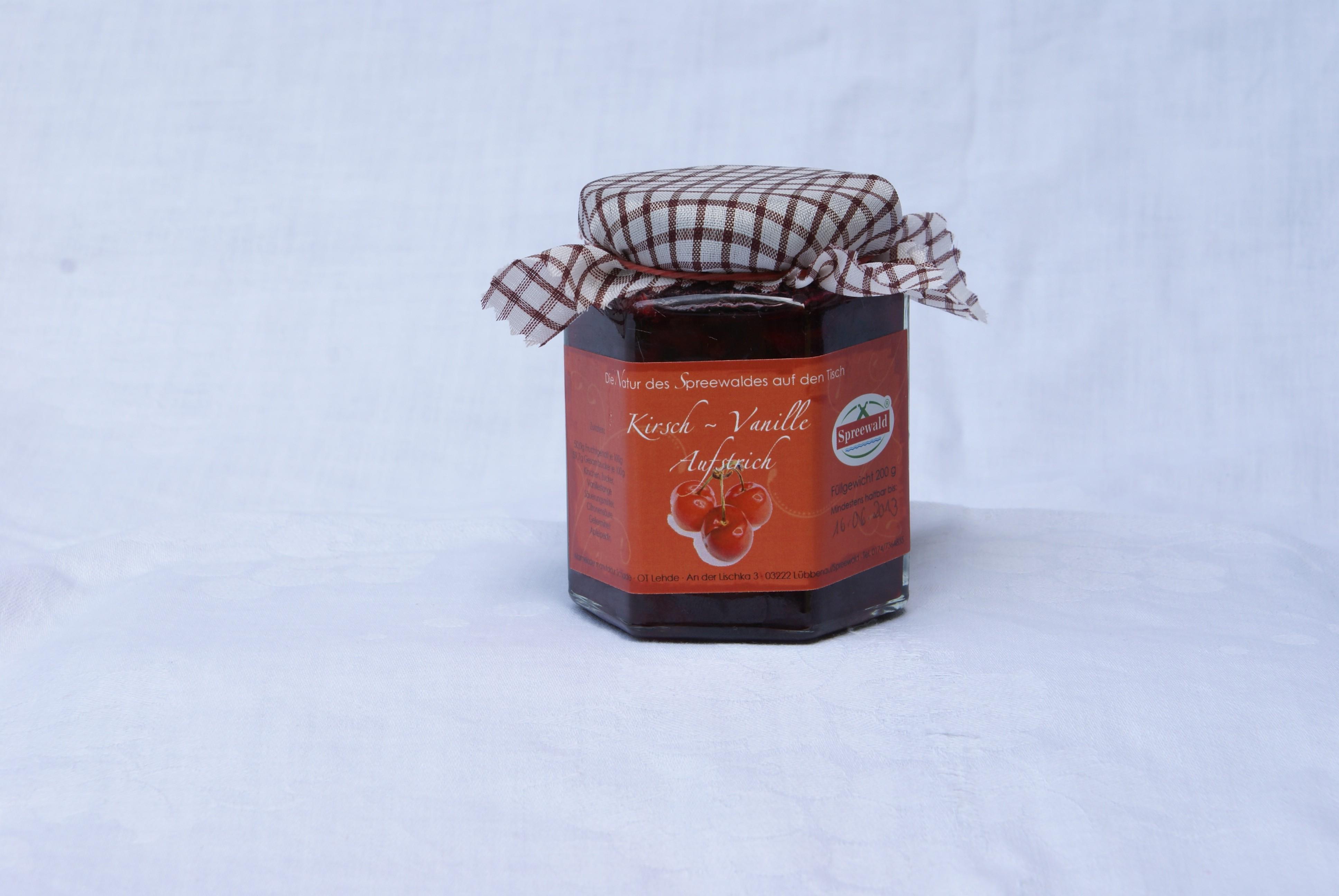 Kirsch-Vanille-Aufstrich