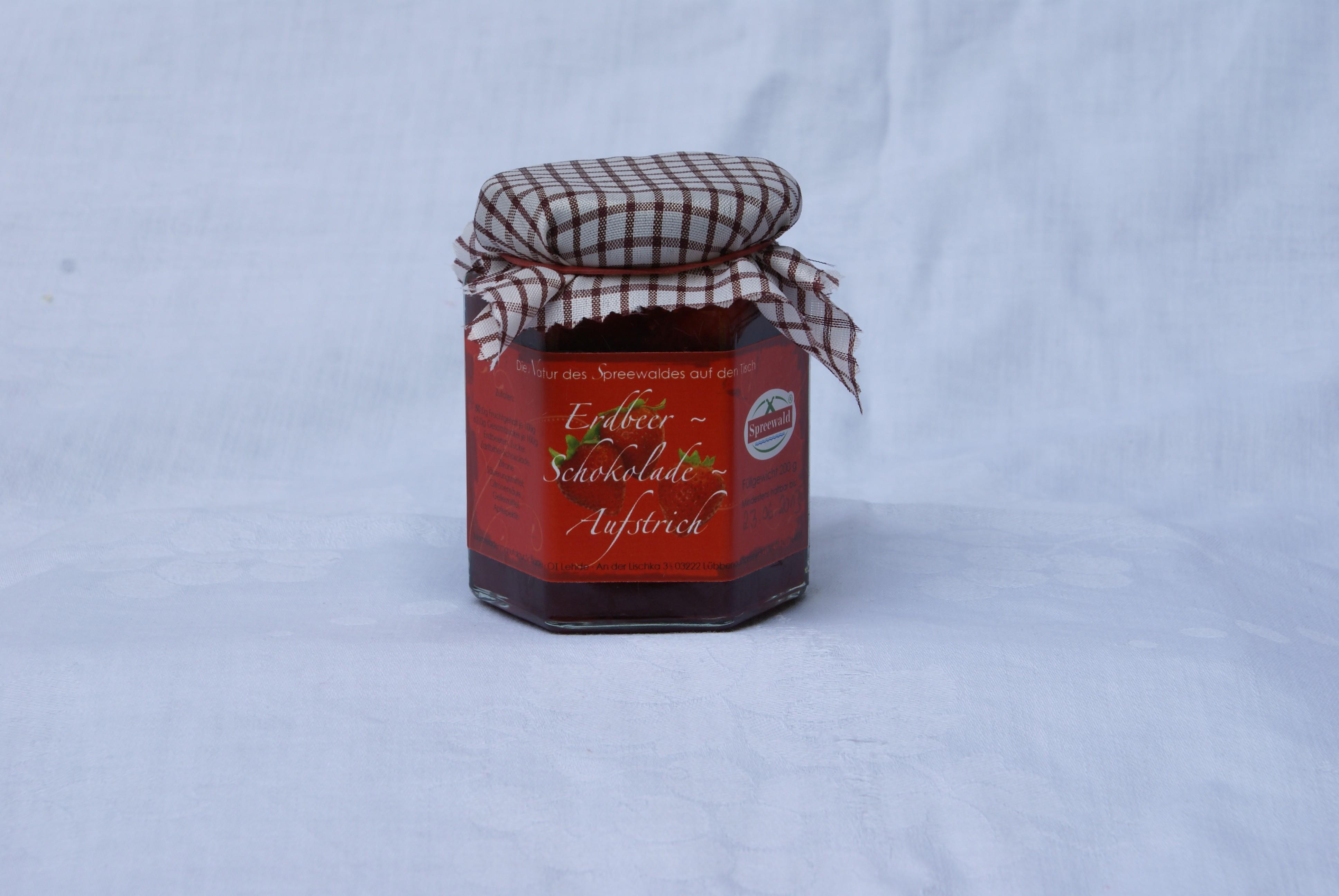 Erdbeer-Schokolade-Fruchtaufstrich