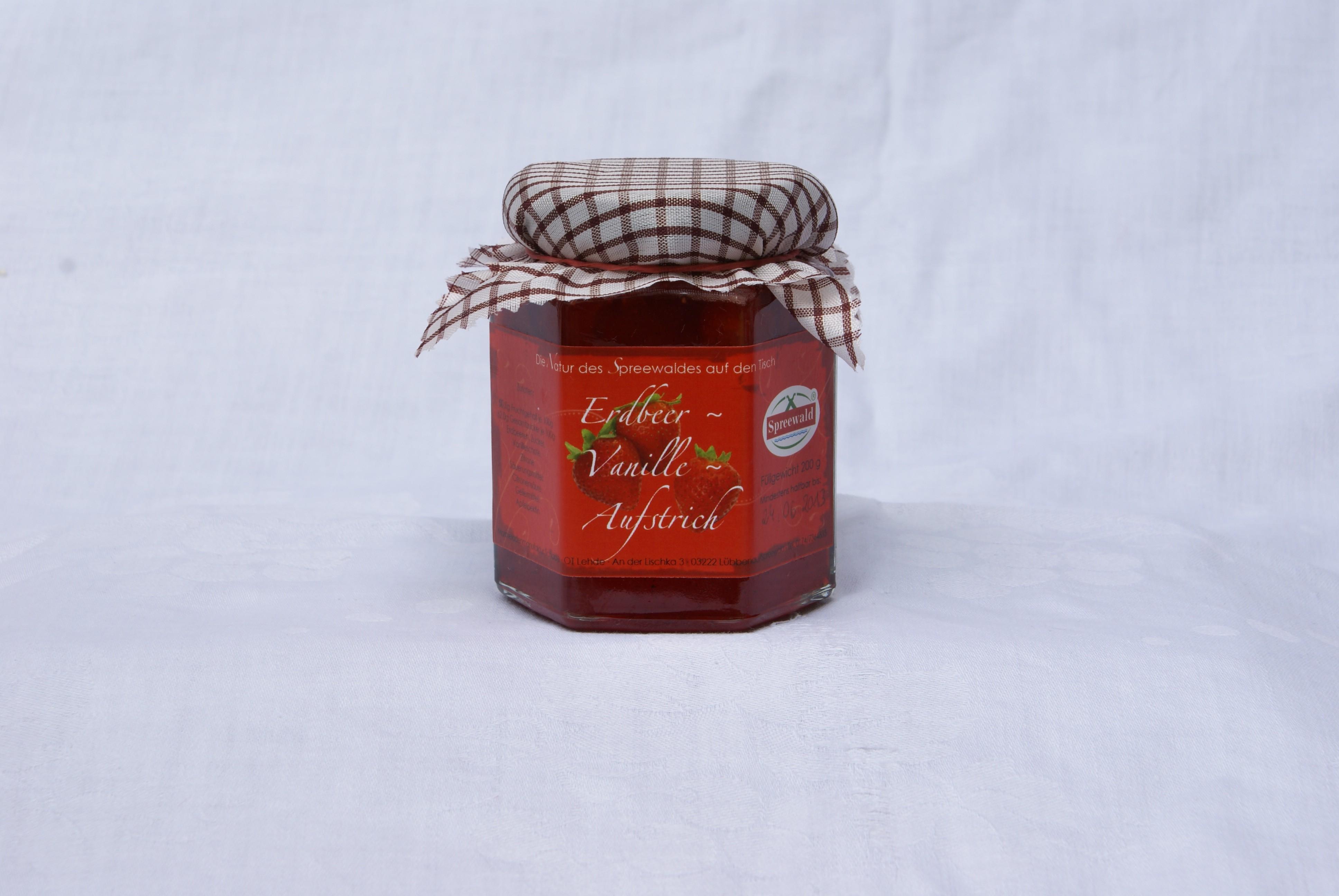 Erdbeer-Vanille-Aufstrich