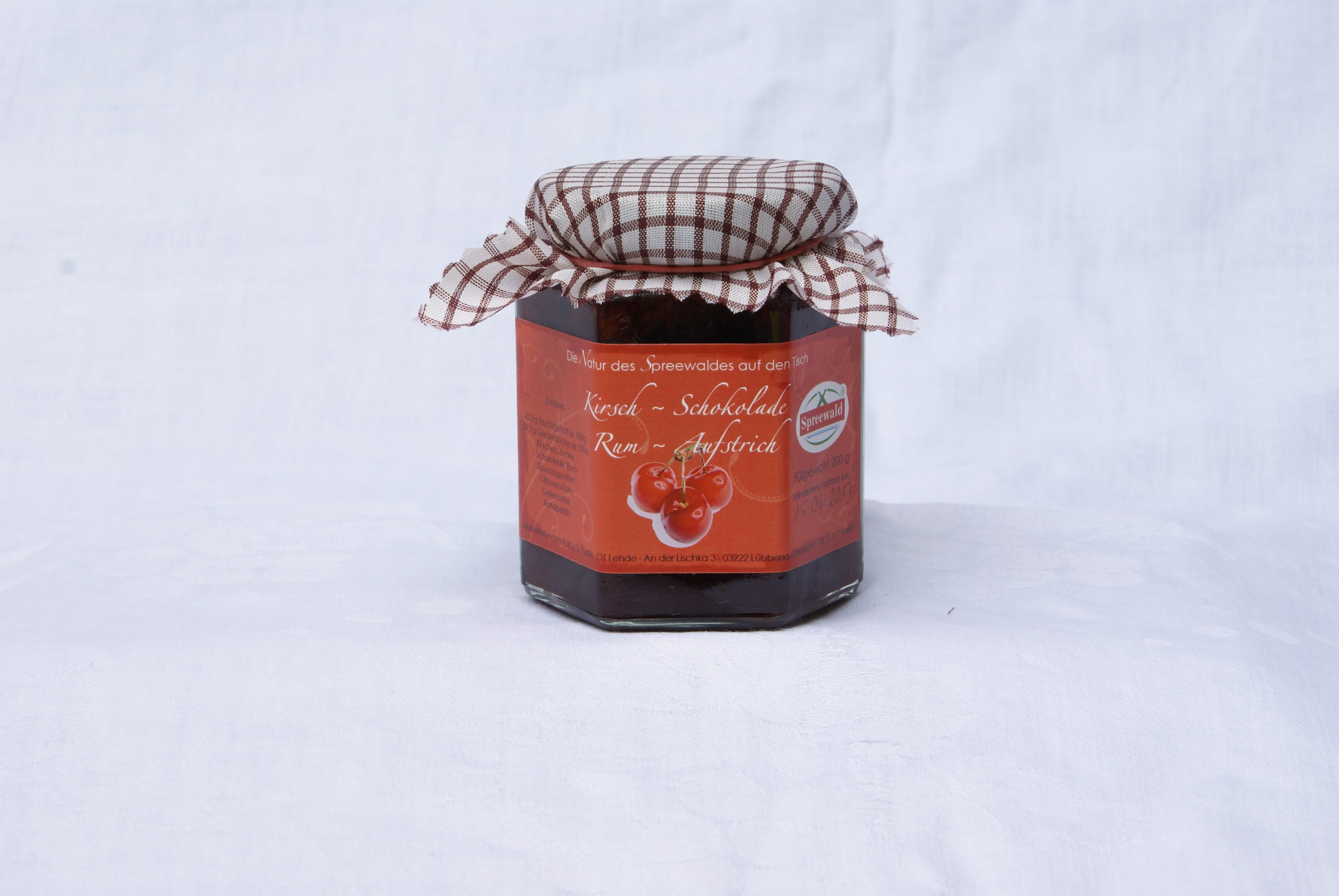 Kirsch-Schokolade-Rum-Aufstrich