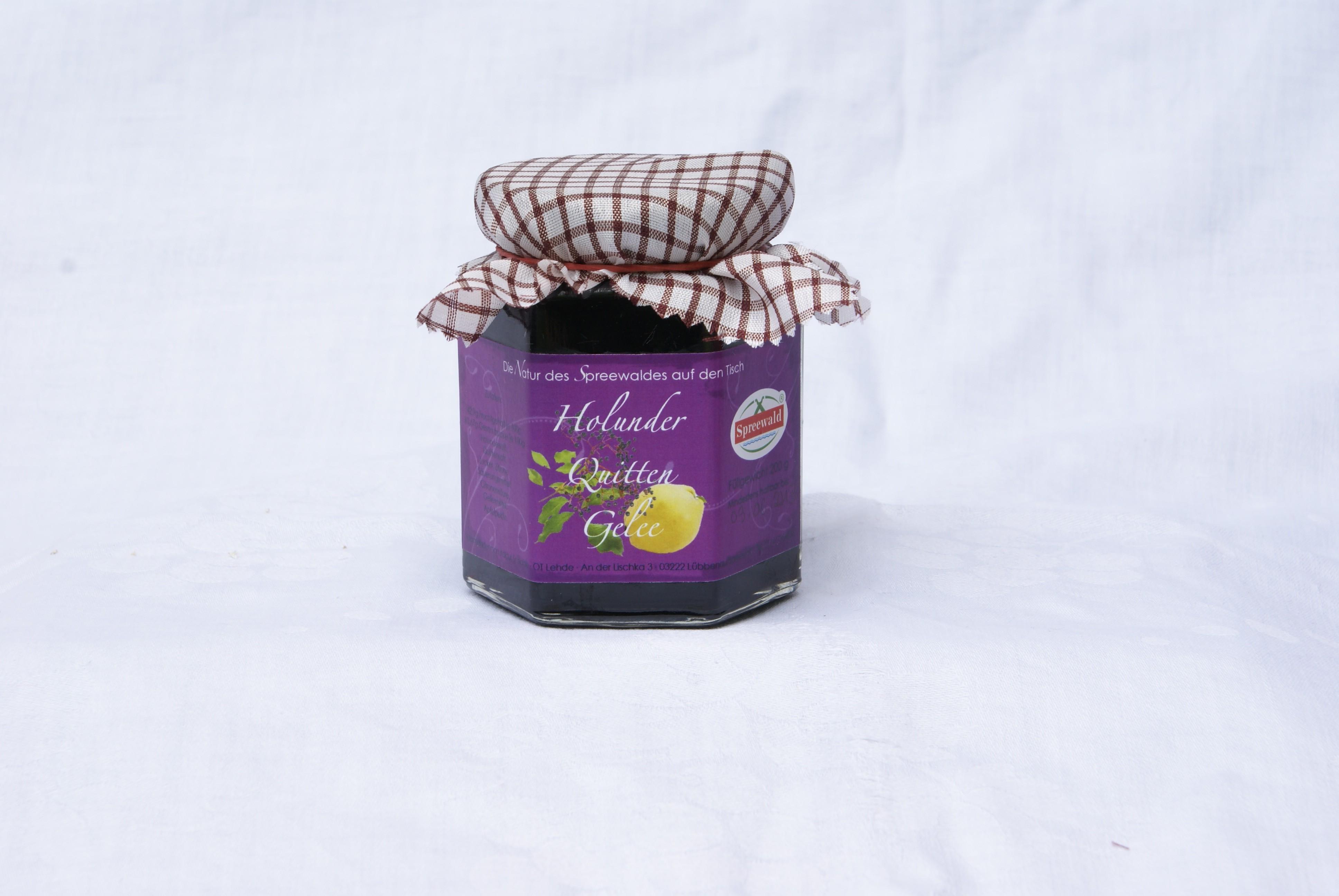 Holunder-Quitte-Gelee